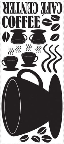 Coffee Cup Chalkboard Peel & Stick Wall Decals (RMK1314GM) - Peazz.com