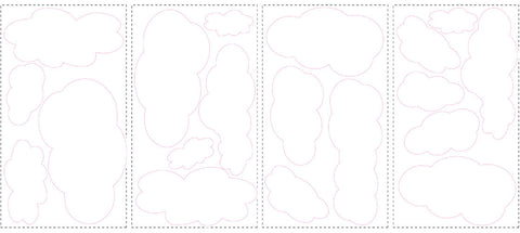 Clouds (White Bkgnd) Peel & Stick Wall Decals (RMK1562SCS) - Peazz.com