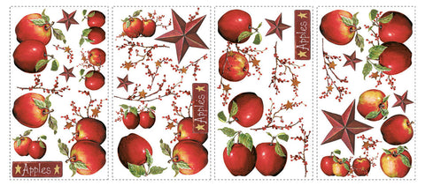 Country Apples Peel & Stick Wall Decals (RMK1570SCS) - Peazz.com