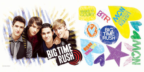 Big Time Rush Peel & Stick Giant Wall Decal (RMK1579GM) - Peazz.com