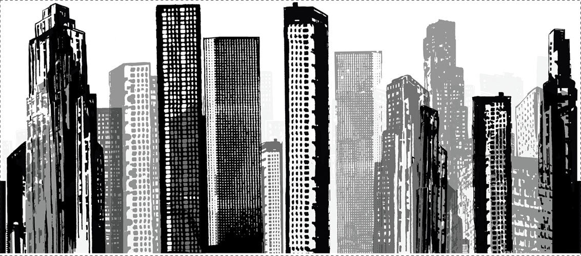 Cityscape Peel & Stick Giant Wall Decal (RMK1602GM)