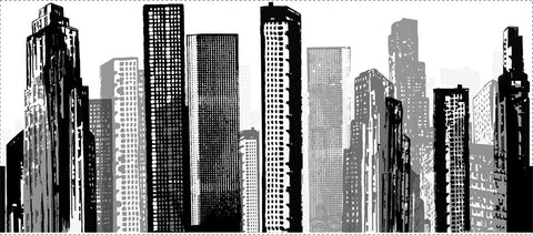 Cityscape Peel & Stick Giant Wall Decal (RMK1602GM) - Peazz.com