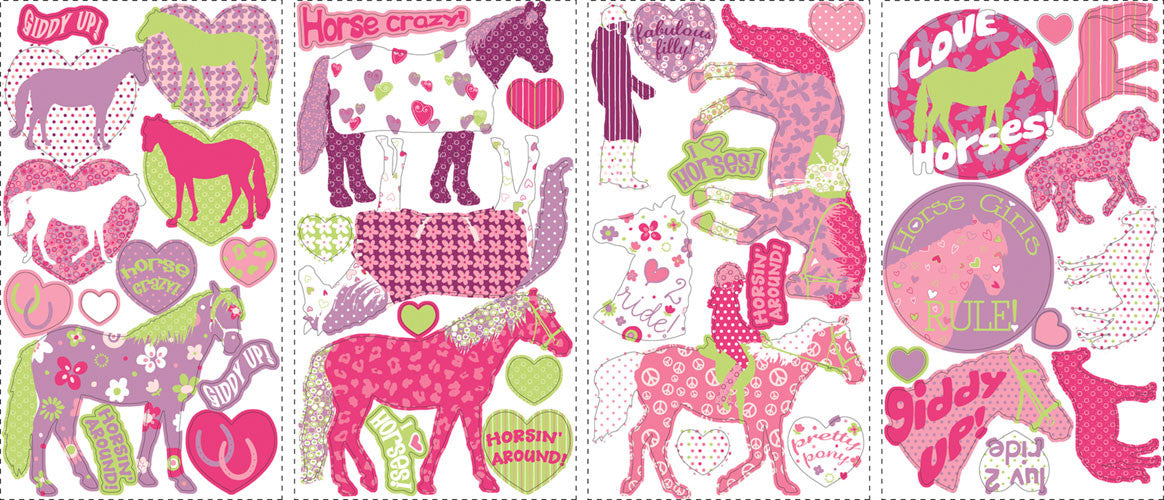 Horse Crazy Peel & Stick Wall Decals (RMK1663SCS)