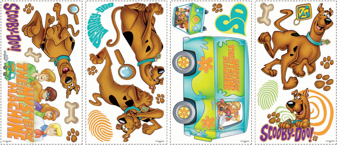 Scooby Doo Peel & Stick Wall Decals (RMK1696SCS)