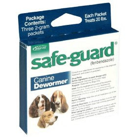 Safe-Guard (Fenbendazole 22.2%) Canine Wormer, 2 Grams - Peazz.com