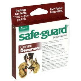 Safe-Guard (Fenbendazole 22.2%) Canine Wormer, 4 Grams - Peazz.com