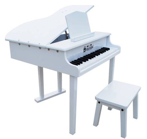 Schoenhut 37 Key Concert Grand Piano - White 379W - Peazz.com