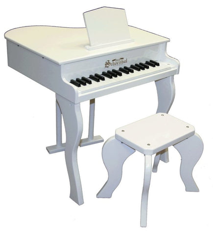 Schoenhut 37 Key Elite Baby Grand Piano - White 372W - Peazz.com
