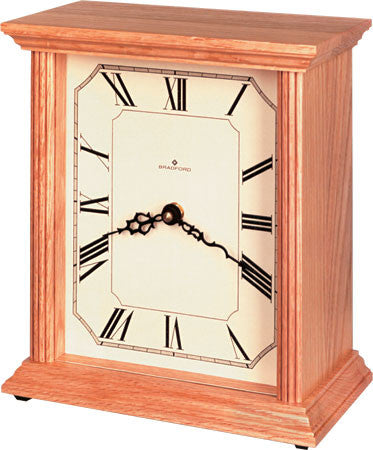 Bradford 370023 The Hudson Mantle Clock Oak Finish - Peazz.com