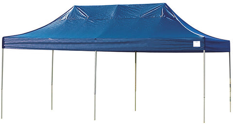 ShelterLogic 22535 10ft. x 20ft. Pro Pop-up Canopy Straight Leg Blue Cover - Peazz.com