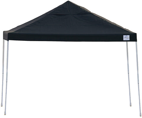 ShelterLogic 22541 12ft. x 12 ft. Pro Pop-up Canopy Straight Leg Black Cover - Peazz.com