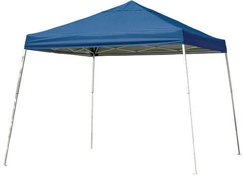 ShelterLogic 22546 12 ft. x 12 ft. Sport Pop-up Canopy Slant Leg Blue Cover - Peazz.com