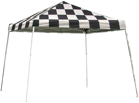 ShelterLogic 22549 12 ft. x 12 ft. Sport Pop-up Canopy Slant LegChecker Flag Cover - Peazz.com