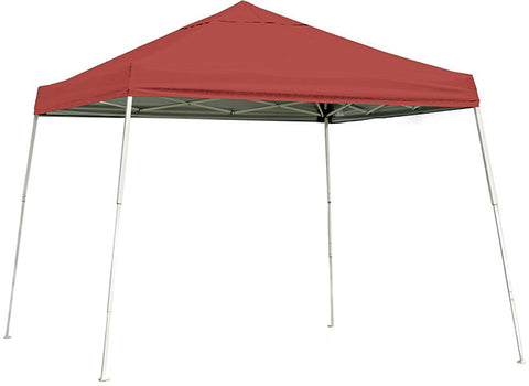 ShelterLogic 22556 10 ft. x 10 ft. Sport Pop-up Canopy Slant Leg Red Cover - Peazz.com