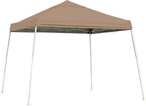 ShelterLogic 22559 10 ft. x 10 ft. Sport Pop-up Canopy Slant Leg Desert Bronze Cover - Peazz.com