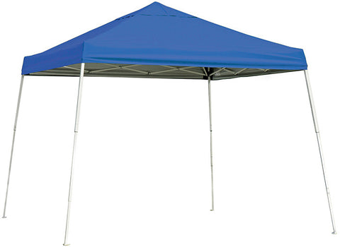 ShelterLogic 22576 10 ft. x 10 ft. Sport Pop-up Canopy Slant Leg Blue Cover - Peazz.com