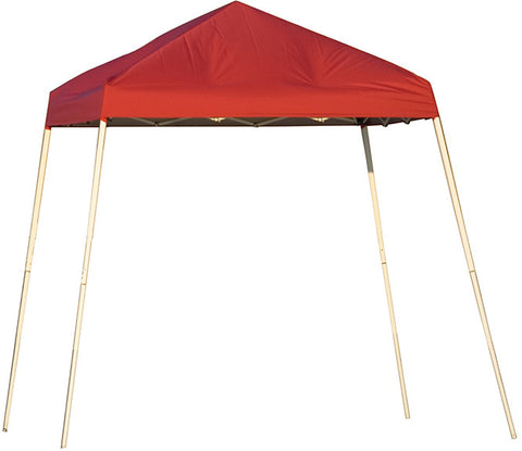 ShelterLogic 22578  8 ft. x 8 ft. Sport Pop-up Canopy Slant Leg Red Cover - Peazz.com