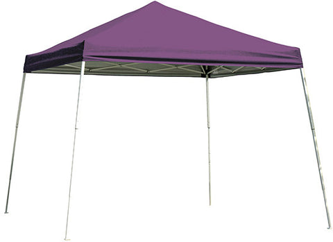 ShelterLogic 22701  8 ft. x 8 ft. Sport Pop-up Canopy Slant Leg Purple Cover - Peazz.com