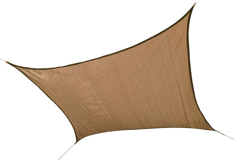 ShelterLogic 25722 ShadeLogic Sun Shade Sail Heavy Weight 12 ft. Square - Sand - Peazz.com