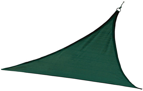 ShelterLogic 25724 ShadeLogic Sun Shade Sail Heavy Weight 12 ft. Triangle - Evergreen - Peazz.com