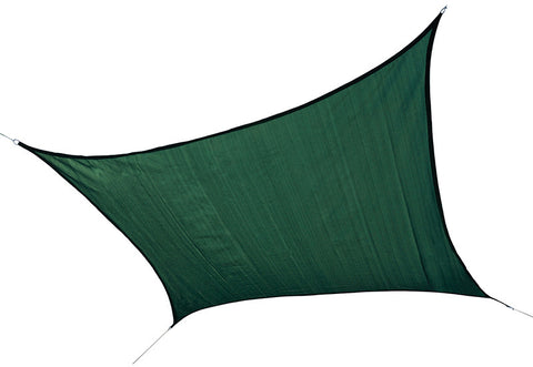 ShelterLogic 25726 ShadeLogic Sun Shade Sail Heavy Weight 12 ft. Square - Evergreen - Peazz.com