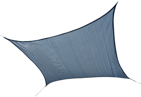 ShelterLogic 25735 ShadeLogic Sun Shade Sail Heavy Weight 12 ft. Square - Sea Blue - Peazz.com