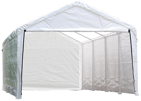 ShelterLogic 25779 Super Max 12 ft. x 30 ft. White Canopy Enclosure Kit Fits 2 in. Frame - Peazz.com