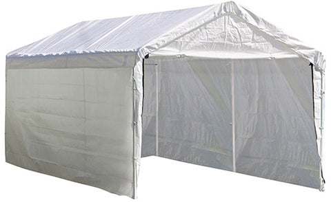 ShelterLogic 25875 Super Max 10 ft. x 20 ft. White Canopy Enclosure Kit Fits 2 in. Frame - Peazz.com
