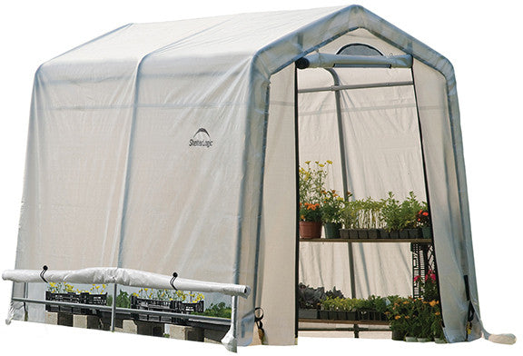 ShelterLogic 70652 GrowIt Greenhouse-In-A-Box Easy Flow Greenhouse Peak-Style 6 ft. x 8 ft. x 6 ft. 6in