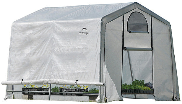ShelterLogic 70656 GrowIt Greenhouse-In-A-Box Easy Flow Greenhouse Peak-Style 10 ft. x 10 ft. x 8 ft. SHL-70656