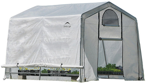 ShelterLogic 70656 GrowIt Greenhouse-In-A-Box Easy Flow Greenhouse Peak-Style 10 ft. x 10 ft. x 8 ft. - Peazz.com