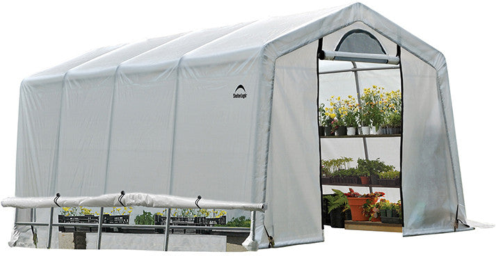 ShelterLogic 70658 GrowIt Greenhouse-In-A-Box Easy Flow Greenhouse Peak-Style 10 ft. x 20 ft. x 8 ft. SHL-70658