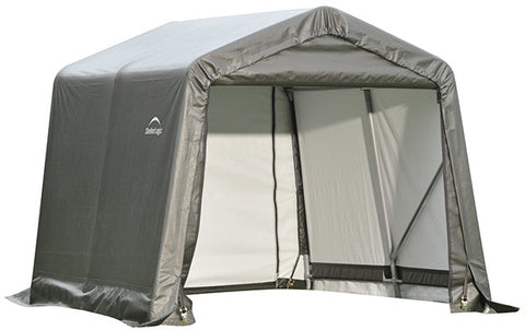 ShelterLogic 71802 8x8x8 ft.  Peak Style Shelter Gray - Peazz.com