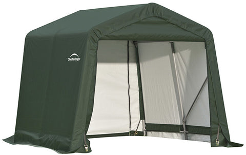 ShelterLogic 71804 8x8x8 ft.  Peak Style Shelter Green - Peazz.com