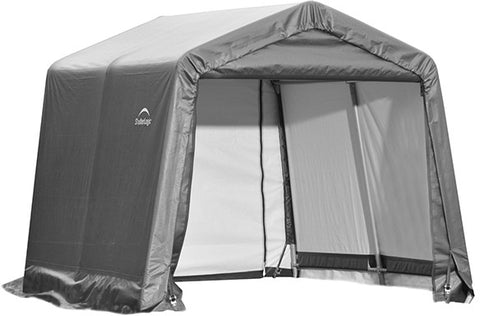 ShelterLogic 72803 10x8x8 ft. Peak Style Shelter - Gray - Peazz.com