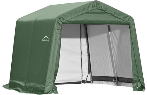 ShelterLogic 72804 10x8x8 ft.  Peak Style Shelter - Green - Peazz.com