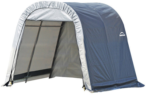 ShelterLogic 77803 10x10x8 ft.   Round Style Shelter-Gray - Peazz.com