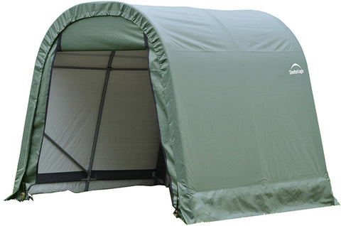 ShelterLogic 77804 10x10x8 ft.   Round Style Shelter-Green - Peazz.com