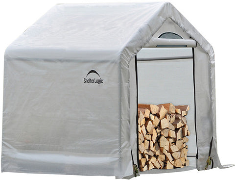 ShelterLogic 90395 Firewood Seasoning Shed 5 x 3.5 x 5 ft. - Peazz.com