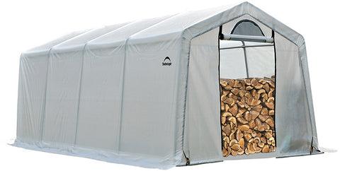 ShelterLogic 90397 Firewood Seasoning Shed 10 x 20 x 8 ft. - Peazz.com
