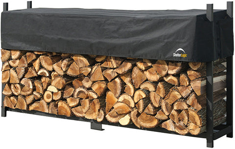 ShelterLogic 90475 Firewood Rack-in-a-Box Ultra Duty Rack with cover - 8 ft. - Peazz.com