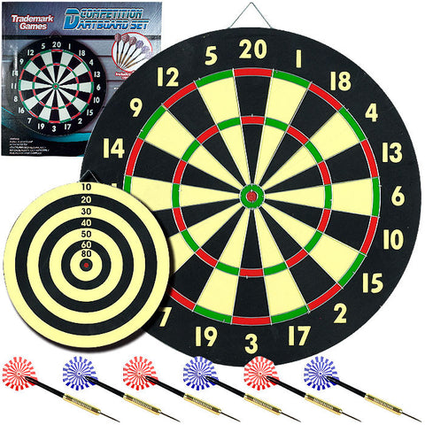 Trademark Commerce 15-2004 TGT Game Room Dart Set with 6 Darts and Board - Peazz.com