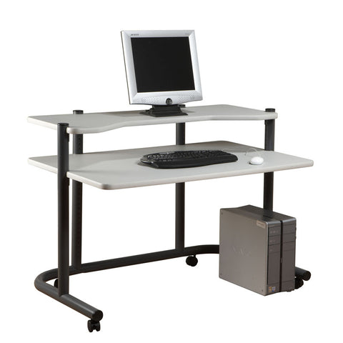 "Studio Designs 18650 48""Computer Workstation / Pewter / Grey - Peazz.com"