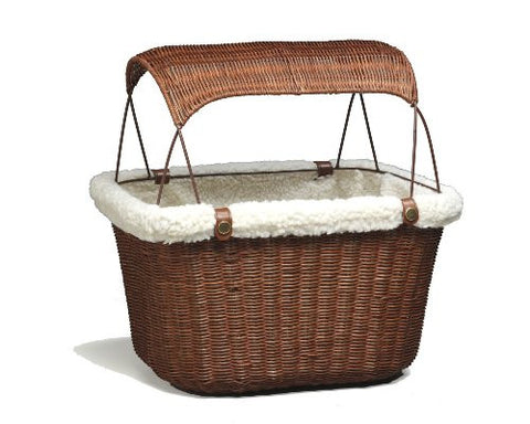 Solvit 62331 Tagalong™ Wicker Bicycle Basket - Peazz.com