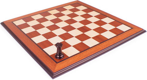 "Mahogany & Maple Chess Board with Molded Edge - 1.5"" Squares - Peazz.com"