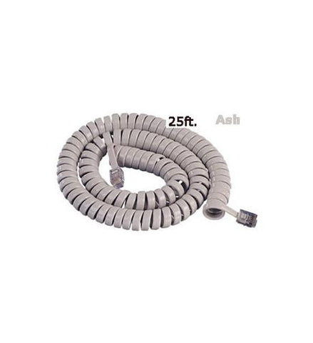 Cablesys 2500AS GCHA444025-FAR / 25' ASH Handset Cord - Peazz.com