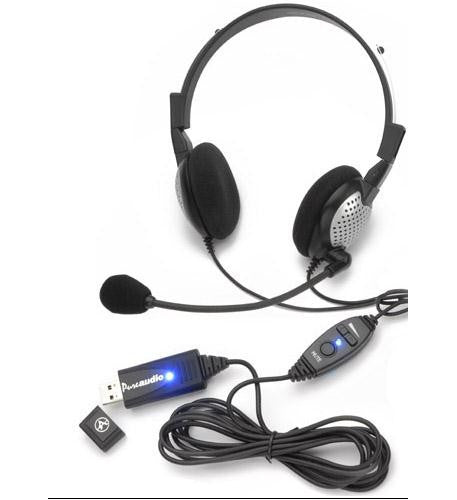 Andrea Headsets AND-NC185VMUSB High Quality Digital Stereo USB Headset TD-AND-NC185VMUSB