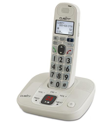 clarity d712 lified cordless phone with answering machine