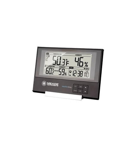 Meade Instruments Corporation MEA-TE256W Slim Line Station with IN/OUT Temp/Humid