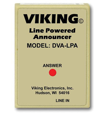 Viking Electronics VK-DVA-LPA Phone Line Powered Digital Voice - Peazz.com